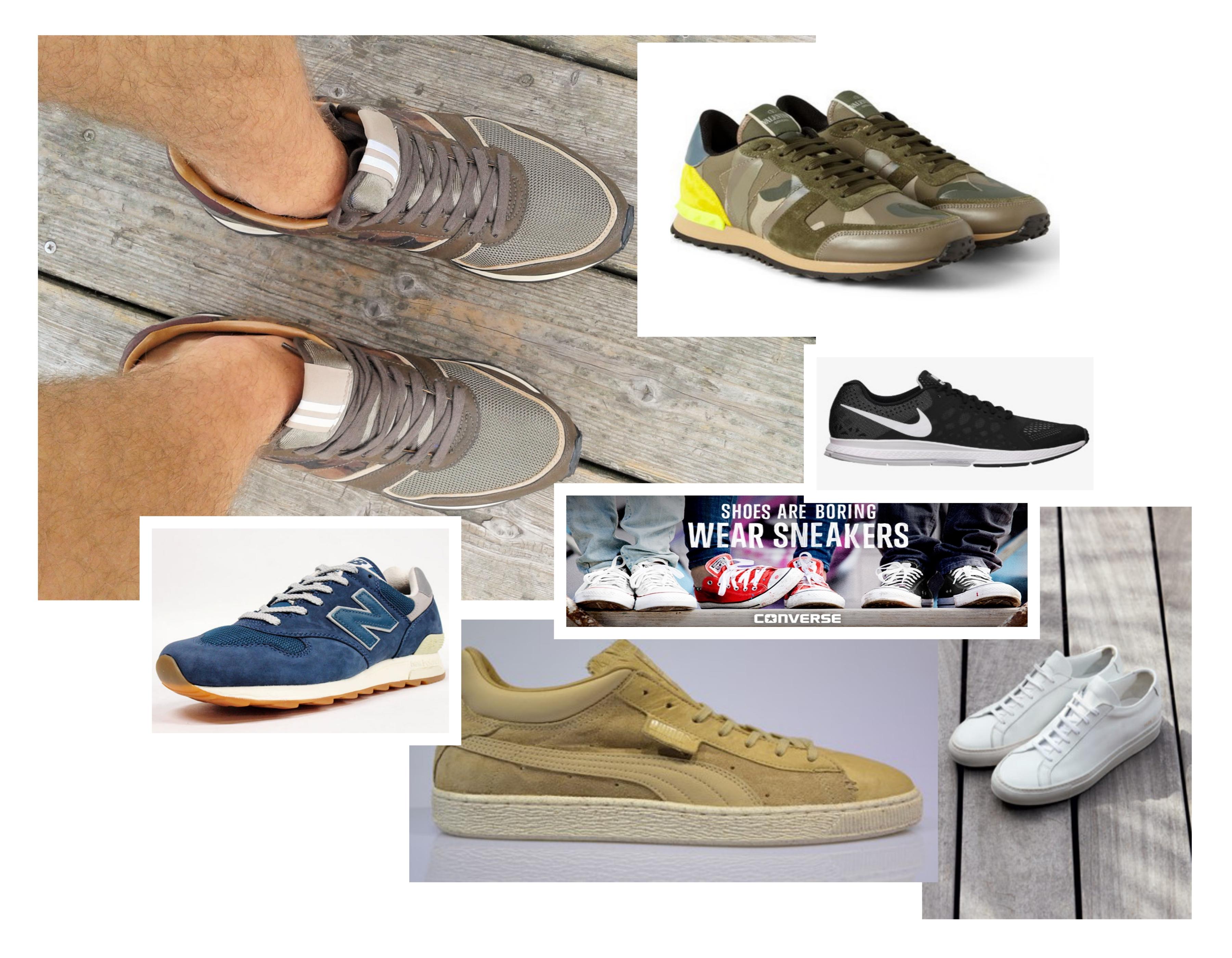 sneaker en trainer collage