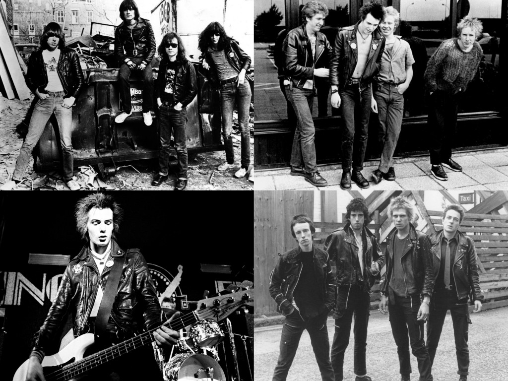 The Ramones, The Clash, Sex Pistols