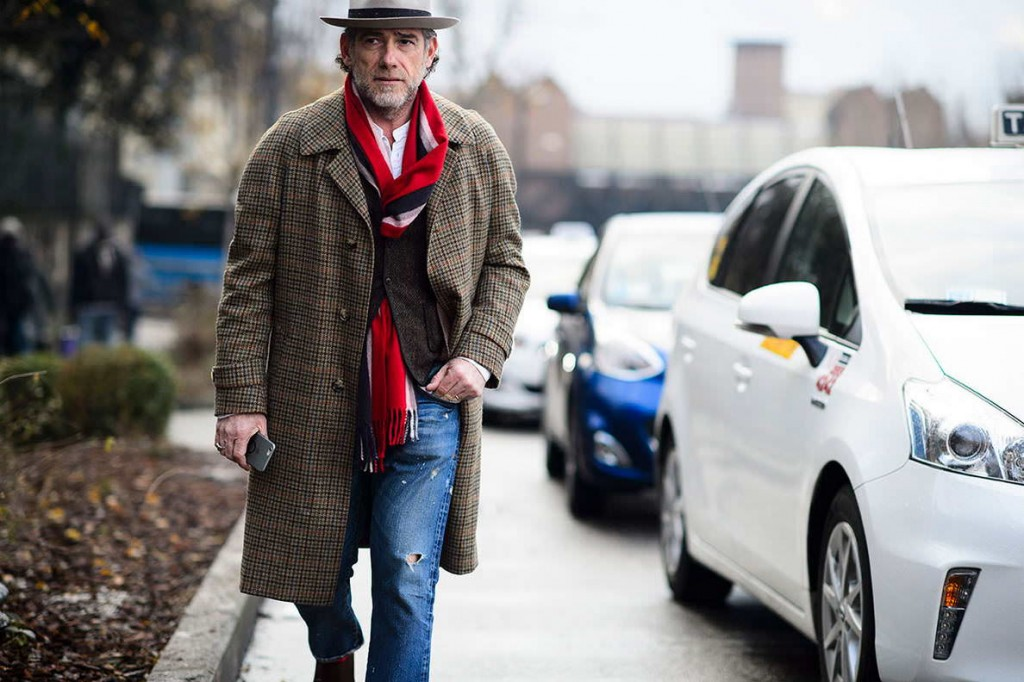 Jeans-with-hat-overcoat-and-long-scarf-by-High-Snobiety