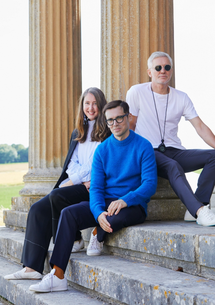 Erdem Moralioglu, Baz Luhrmann and Ann-Sofie Johansson, H&M's creative advisor